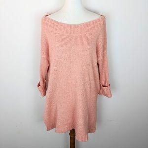 Free People Short Sleeve Knit Sweater Tunic Small